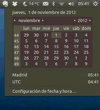 Tus eventos en el Indicator-DateTime gracias a Evolution-Mirror